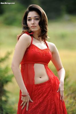 Hot Navel Bikini Kissing Tamanna Bhatia Red Navel Show Racha Rebel