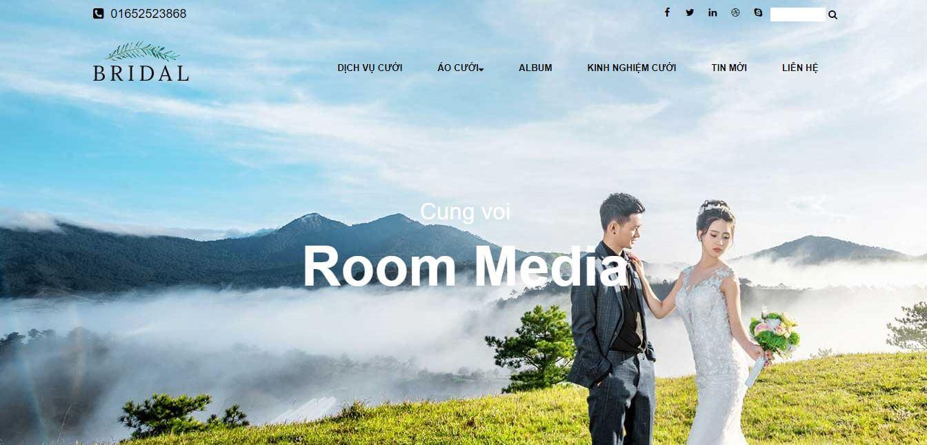 Bán giao diện web ảnh viện áo cưới