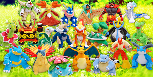 The Starter Final Evolution Plushies Have Arrived!