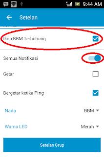 Setelan Blackberry messenger