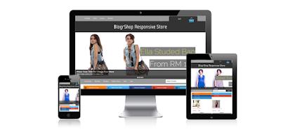 Download 10 Template Toko Online Blogspot Keren GRATIS