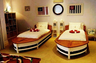 Bedroom design unique and funny, suitable for older children