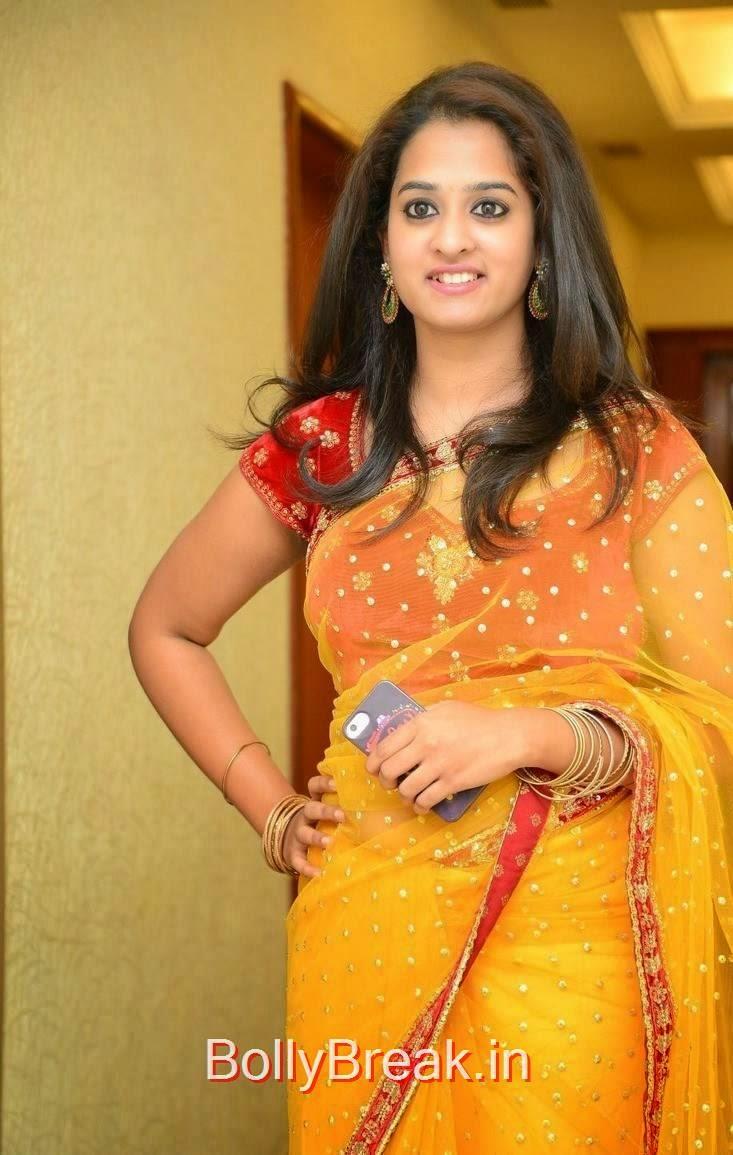 Nanditha Pics in YellowSaree, Actress Nanditha Yellow Saree Navel pics in HD from Ram Leela Movie