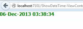 Show current Date and Time