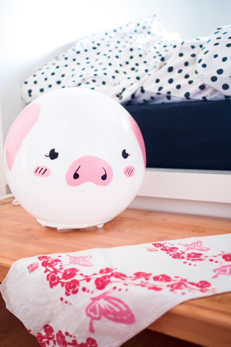 Schweine Nachttischlampe