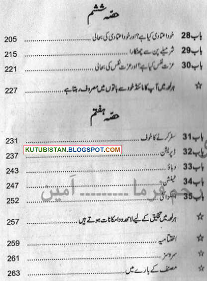 Contents of Mind Magic Pdf Urdu Book