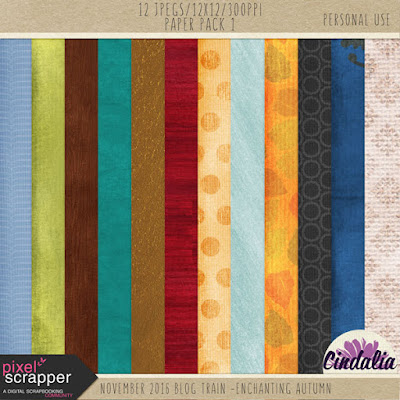 Pixel Scrapper, Blog Train, scrapbooking, digital scrapbooking, free, Autumn, Fall,