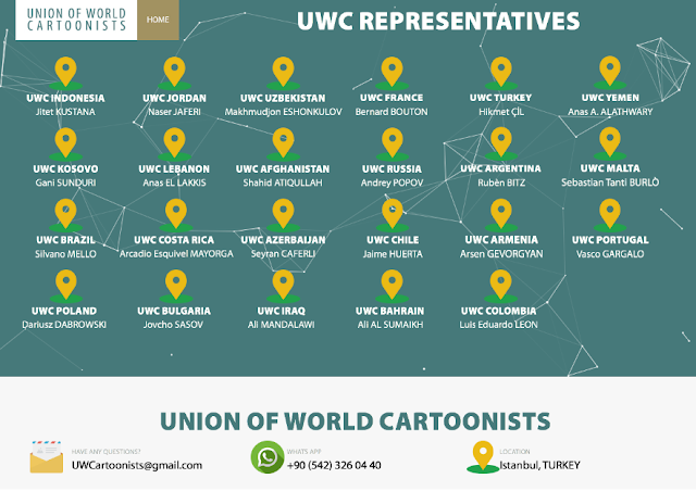 Union of World Cartoonists Representatives