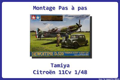 Montage Citroën Traction 11 CV Tamiya 1/48.