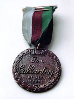The Dickin Medal, awarded to animals for gallantry in war