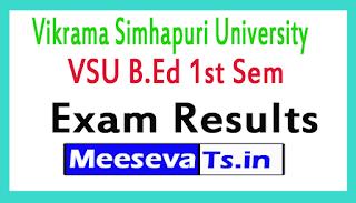 Vikrama Simhapuri University VSU B.Ed 1st Sem Exam Results