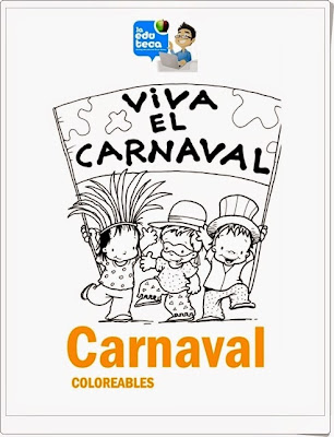 "Coloreables ""Viva el carnaval"""