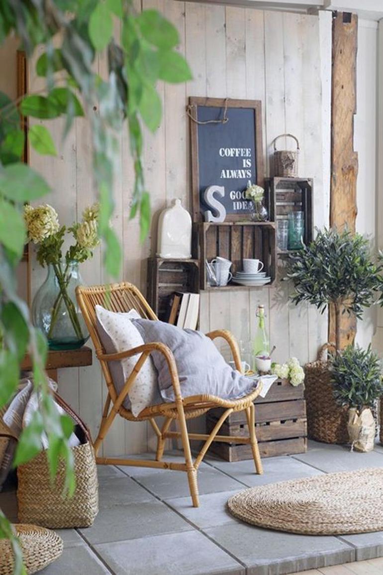 terraza lowcost sillón