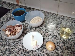 Risotto con shiitake