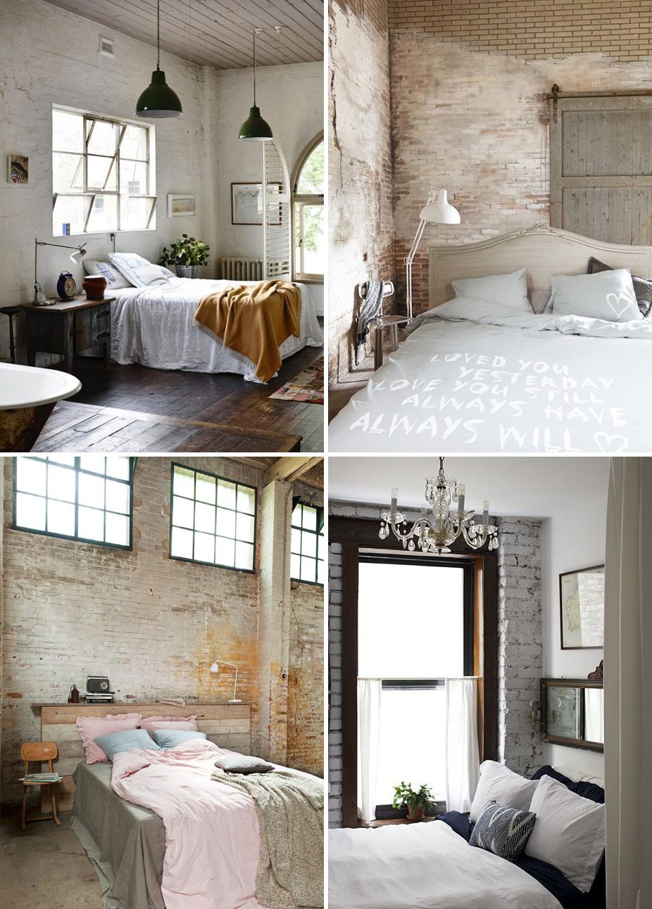 Una parete di mattoni shabby chic interiors for Case di mattoni ranch