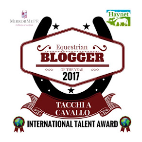 So happy to be the International Talent in the Equestrian Blogger Of The Year 2017 Awards