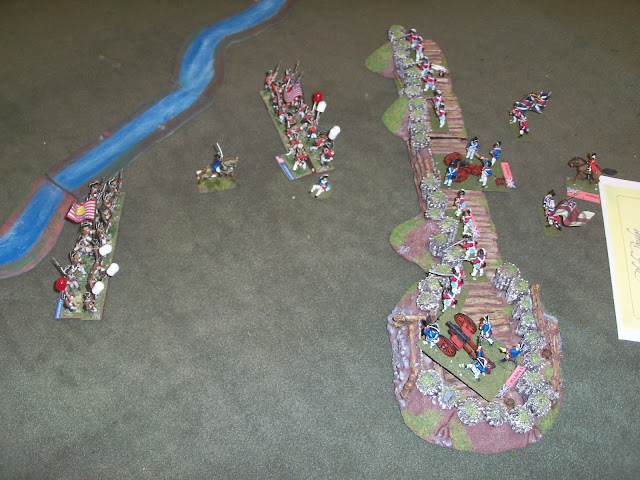 Bemis Heights AWI Black Powder game at Little Wars
