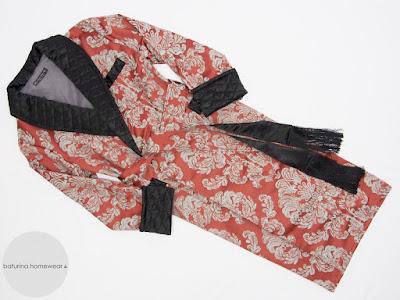 eleganter herren hausmantel lang luxus morgenmantel paisley baumwolle seide gesteppt englischer morgenrock dressing gown