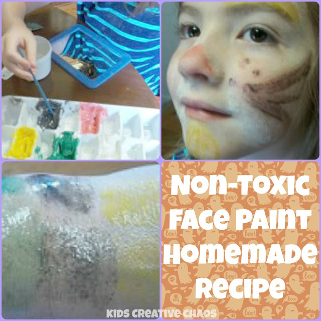 Non-Toxic Face Paint Homemade Recipe All Natural Coconut Oil