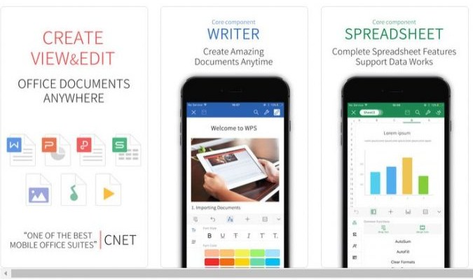 Aplikasi iPhone - WPS Office + PDF
