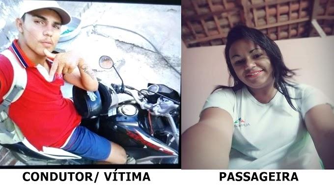 ACIDENTE DE MOTO: Condutor morre e passageira fica gravemente ferida na Rua José B. de Lucena em Itabaiana/PB.(ATUALIZADO)