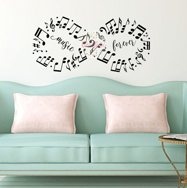Vinilo decorativo pentagrama infinito musical w411 cdm for Vinilo decorativo musical pared