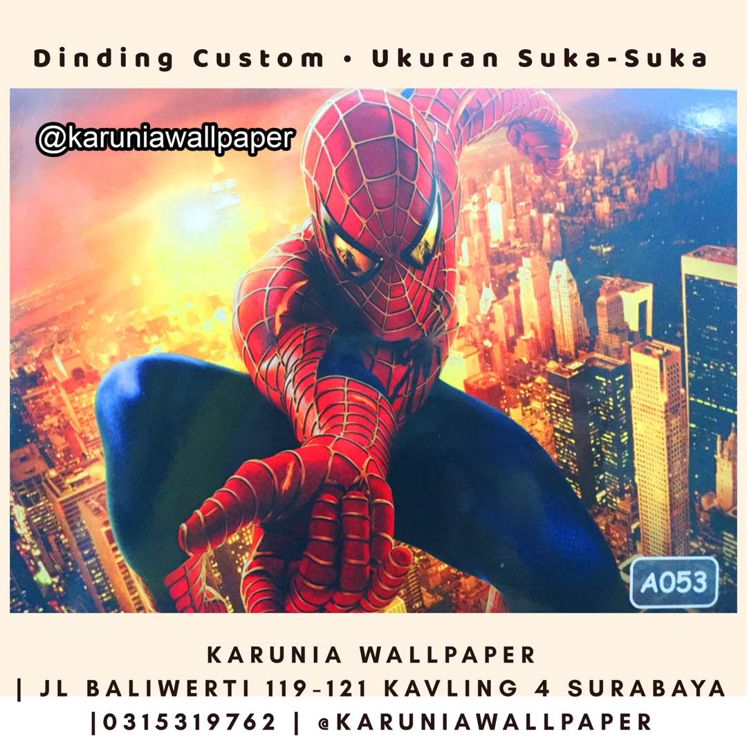 jual wallpaper superhero spiderman