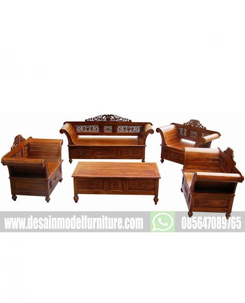 Set kursi tamu ukir madura melati kayu jati jepara