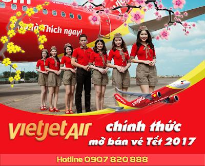 Vietjet Air chính thức mở bán vé máy bay Tết 2017