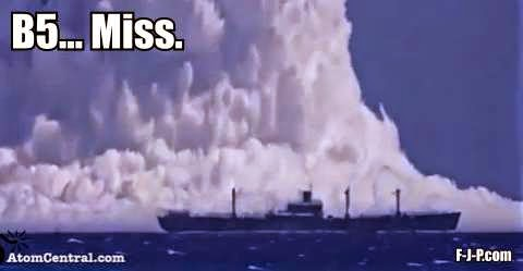 Funny Atomic Explosion Ship B5 Miss Joke Picture