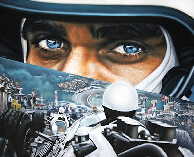 "Race Day - oil on canvas by Ryan Jones - 60"" x 48"""