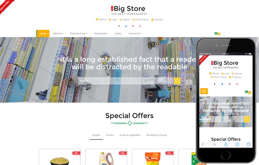 E-Commerce Free Web Template 7 - Big Store E-commerce template