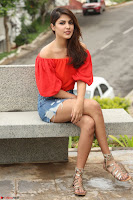 Rhea Chakraborty in Red Crop Top and Denim Shorts Spicy Pics ~  Exclusive 339.JPG