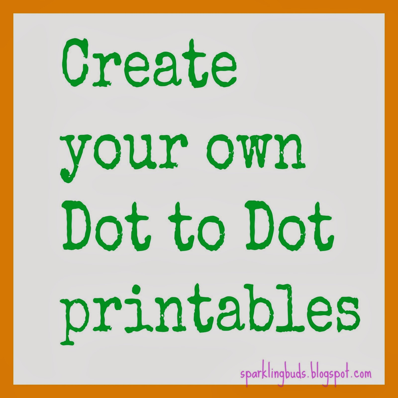 Make Your Own Dot To Dot Printable Using Gimp Sparklingbuds