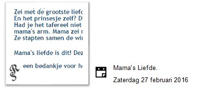 Mama's Liefde.