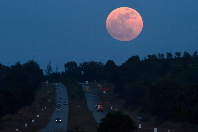 A supermoon occurs when the full moon is at its closest distance to earth, a point which is called the perigree.