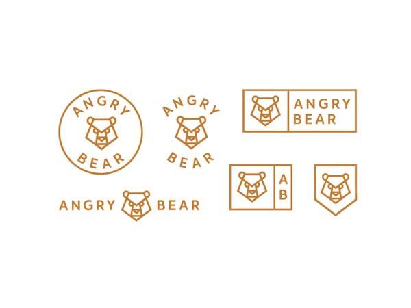 Inspirasi Desain Logo Monoline 2017 - Bear Monoline Logo Design