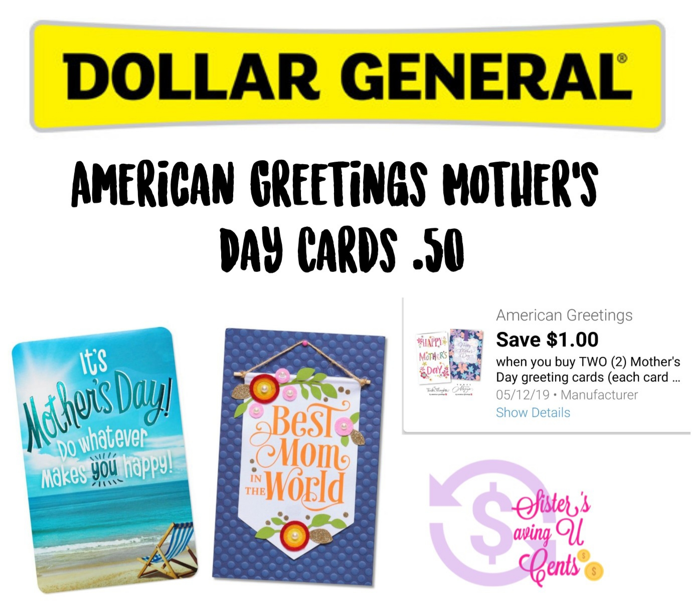 American Greetings Mother S Day Cards 50 At Dollar General