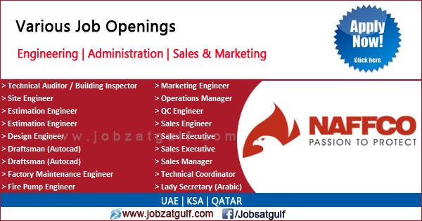 Job Openings at NAFFCO - UAE | KSA | QATAR - Jobzatgulf com