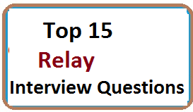 Frequently Asked Relay Interview Questions With Answers