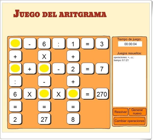 Juegos Educativos De Matematicas Online Juego Del Aritgrama