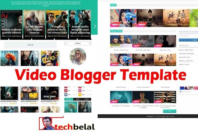 Blogger video template 2019: video tube blogger template Like Youtube
