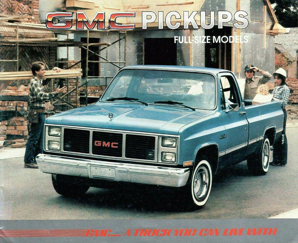 GMC Sierra Classic Pick-Up V8 automatic 1985 & 1985 sales brochure ...