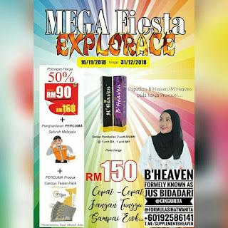 Cikgu iEta, formula sihat wanita, B'Heaven, promosi, Jus Bidadari, megafiesta, malaysia, gombak, ukayperdana, tipssukses, bahagia, tips bisnis, business tips, tips, entrepreneurtips, tip parenting, tips sihat, terapi instagram, cspscs
