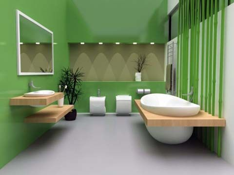 Green Bathroom Color Decorating Ideas