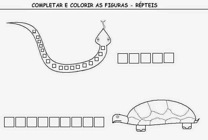 Arte No Paint Desenho Para Colorir Repteis