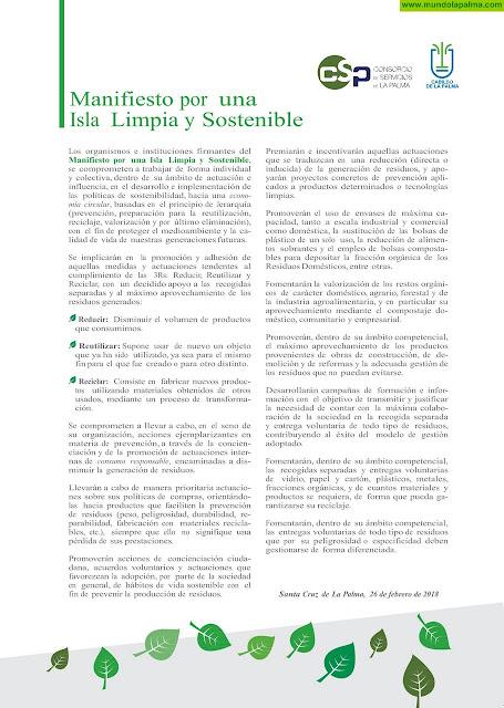 Manifiesto por una Isla Limpia y Sostenible