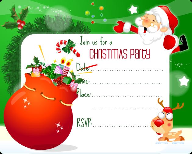 Xmas Invitation Templates. free to print. make free printable ...