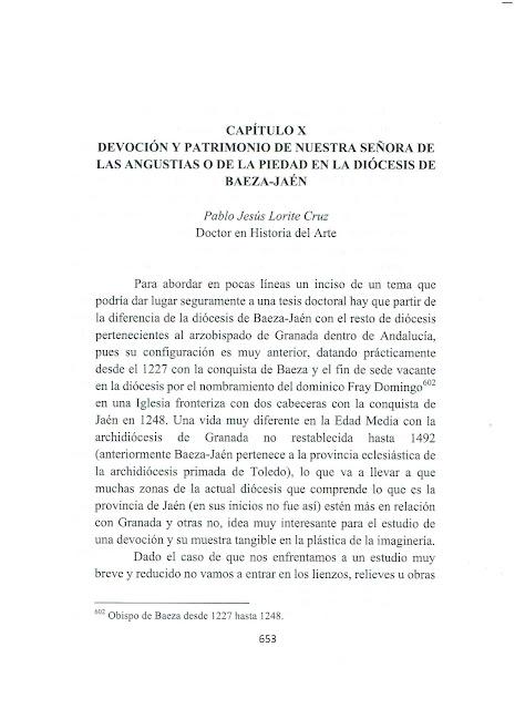 Trabajo publicado por D. Pablo J. Lorite Cruz