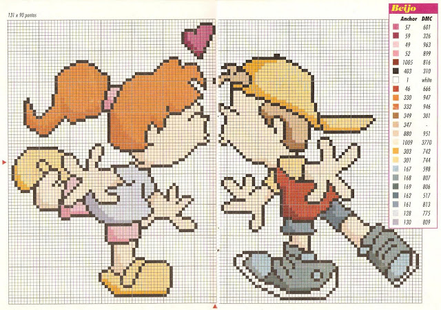 Dia dos Namorados Especial Em Ponto Cruz Com Gráficos43